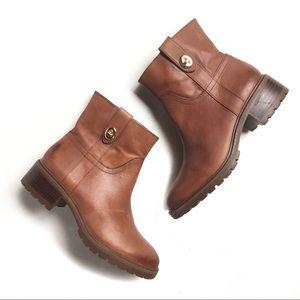 Coach | Georgetta Brown Leather Booties